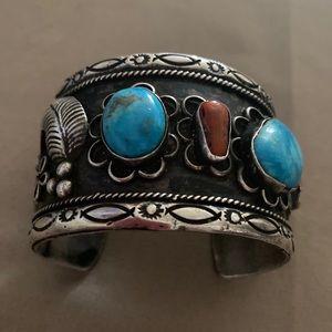 Navajo Sterling Silver Vintage Cuff Bracelet